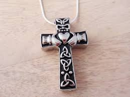 necklaces to hold ashes claddagh celtic cross necklace hollow capsule pendant