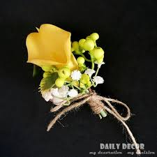 wedding flowers for guests 100 hi q artificial yellow calla wedding flowers
