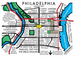 map of philly a hilarious and ridiculously accurate map of philadelphia