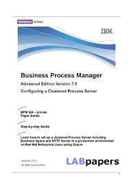 bpm75 advancedclusteroracle11g business process management