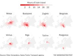 Eastern Washington University Map by Map The Remarkable Distances You Can Travel On A European Train
