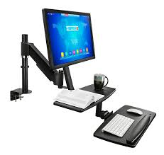 sit stand workstation for 1 27 monitor