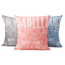 personalized pillows for baby chalkboard birth announcement pillows personalized baby shower