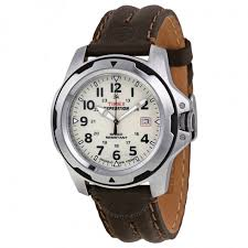 timex expedition rugged field beige dial brown leather men u0027s watch