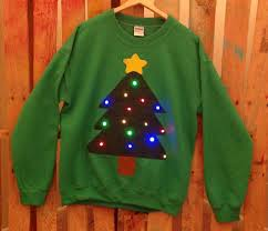 christmas tree sweater with lights festive blinking light sweaters holiday light up sweater