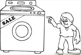 buy washing machine on the sales coloring page free home