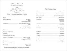 banquet program templates best photos of template of wedding ceremony sle wedding