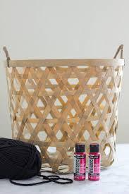 Metallic Home Decor by Diy Metallic Boho Basket