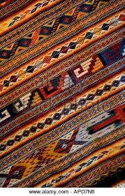 Indian Hand Woven Rugs Mexico Oaxaca Detail Of Hand Woven Rug Using Zapotec Indian Design