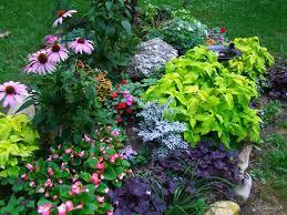 Pretty Flower Garden Ideas Garden Flower Garden Designs With Flag