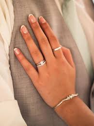 10 french manicure ideas for your wedding day ring finger nails