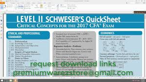 cfa 2017 level 2 platinum package torrent youtube