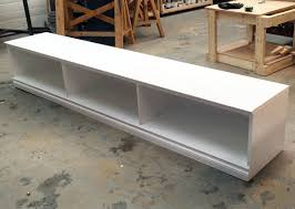 Free Plans To Build A Storage Bench by Ana White Triple Cubby Storage Base Inspired By Pottery Barn