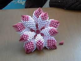 3d Origami Flower Vase Instructions 3d Origami Flower Tutorial Model1 Youtube