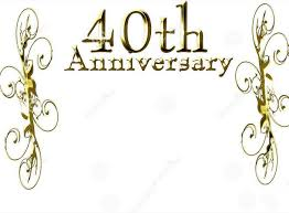 40th anniversary celebration icon meaning theme png image for