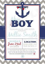 baby boy shower invites baby shower invitations printable nautical themed baby shower