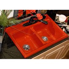 Advantage  Jamestown Red Self Rim Double Bowl Kitchen Sink - Corstone kitchen sink