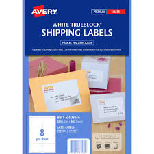 8 Labels Per Sheet Template Avery Laser Shipping Labels White 100 Sheets 8 Per Page Officeworks