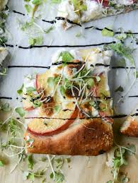 Summer Entertaining Recipes - peach ricotta pizza recipe best summer peach recipes and summer