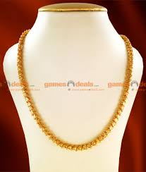 cdas06 24ct gold plated chain traditional kerala hearts
