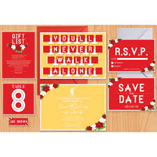 wedding invitations liverpool our bespoke liverpool fc themed wedding stationery horseshoes