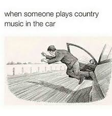 Music Memes Funny - when someone plays country music in the car cars meme on sizzle