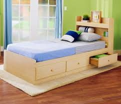 Kids Beds With Storage Boys Bedroom Country Style Wooden Single Kids Bed Design With Storage