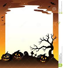 hallowen download frame with halloween scenery 1 royalty free stock image image