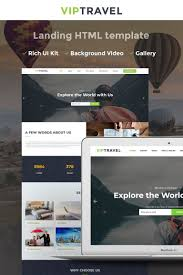 travel agency html5 landing page template