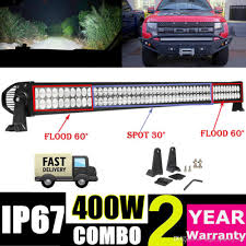 ecco led offroad lights 52 400w led light bar for offroad work fog driving boat car truck