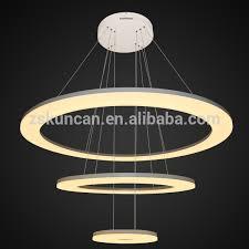 lustre pour bureau 2 anneau moderne led lustre pendentif lumière pour bureau