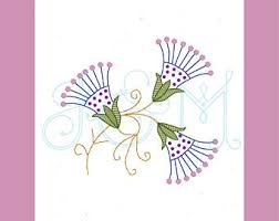 thistle embroidery etsy