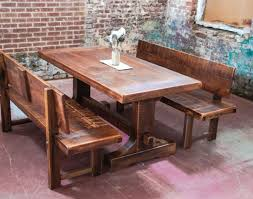Real Wood Dining Room Furniture Bench Dining Room Benches Wonderful Dining Room Table With Bench