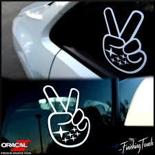 custom subaru emblem subaru peace sign hand wave decal sticker graphic custom wrx