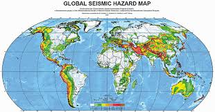 map continents major earthquake zones on each continent