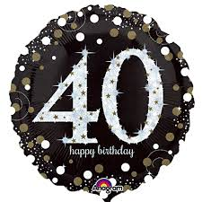 40th birthday balloons delivered sparkling 40th birthday balloon delivered inflated in uk