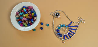 how to make beading aluminum wire wrapped bird ornament for