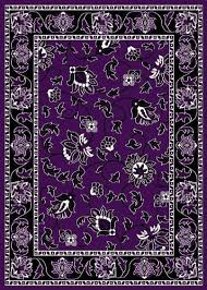 Black And Purple Area Rugs Remarkable T1005 Purple Black White 7 10 X 2 Floral Area
