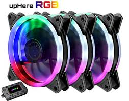 120mm rgb case fan amazon com uphere 3 pack wireless rgb led 120mm case fan quiet