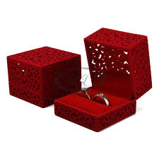 luxury necklace box images Free shipping 6x6x4 7cm red color luxury jewelry box ring display jpg