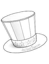 4th july hat coloring pages getcoloringpages