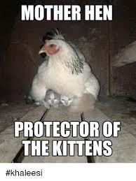 Hen Meme - mother hen protector of the kittens khaleesi meme on me me