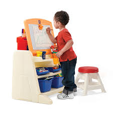 amazon com step2 flip and doodle easel desk with stool toys u0026 games
