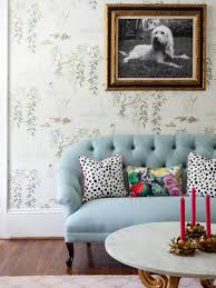Living Room With Blue Sofa Girly Glam Dressing Room Naomi Stein Hgtv