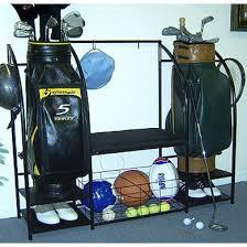 Garage Golf Bag Organizer - golf organizer with bench in sports equipment organizers