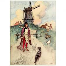 puss boots magnet vintage french fairy tale illustration
