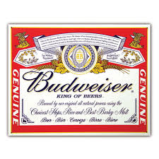 Beer Home Decor Budweiser Label Beer Metal Sign Anheuser Busch Signs