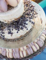 wedding cake lavender picture of lavender wedding cake with macarons