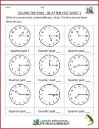 2nd grade math practice telling the time quarter past 1