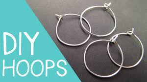 how to make your own clip on earrings diy hoop earrings wine charm rings wire jewelry tutorial